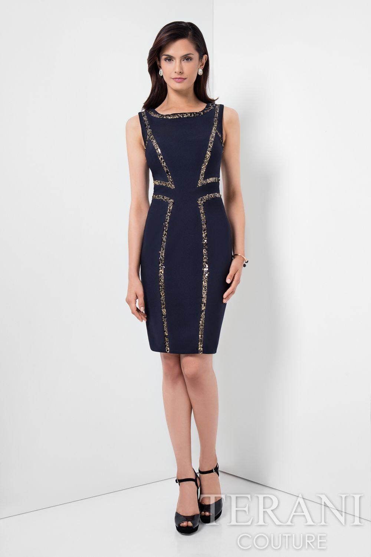 Style: 1621C1260 #cocktaildress #shortdress #navydress #formaldress ...