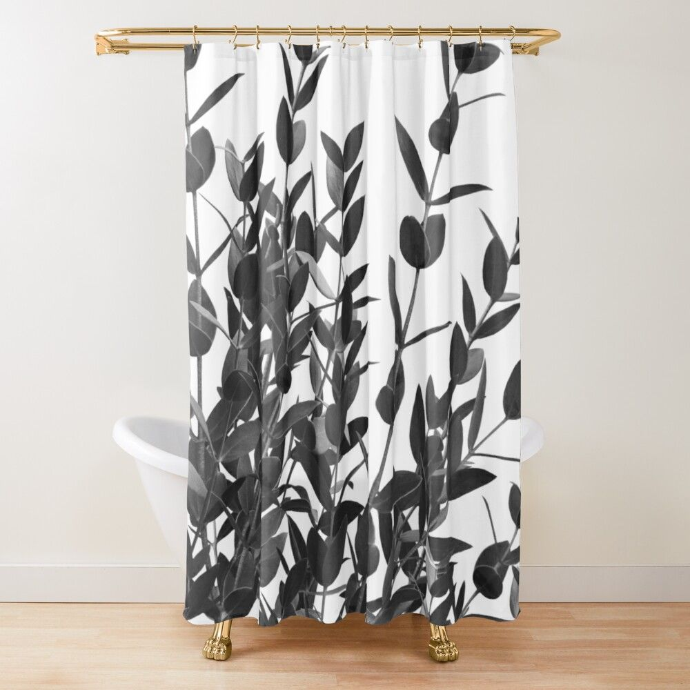 Eucalyptus Leaves Delight 2 Foliage Decor Art Shower Curtain
