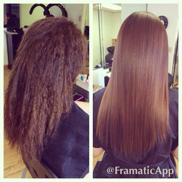 Keratin Treatment Before After Keratin Treatment Relaxed Hair Chemically Straightened Hair