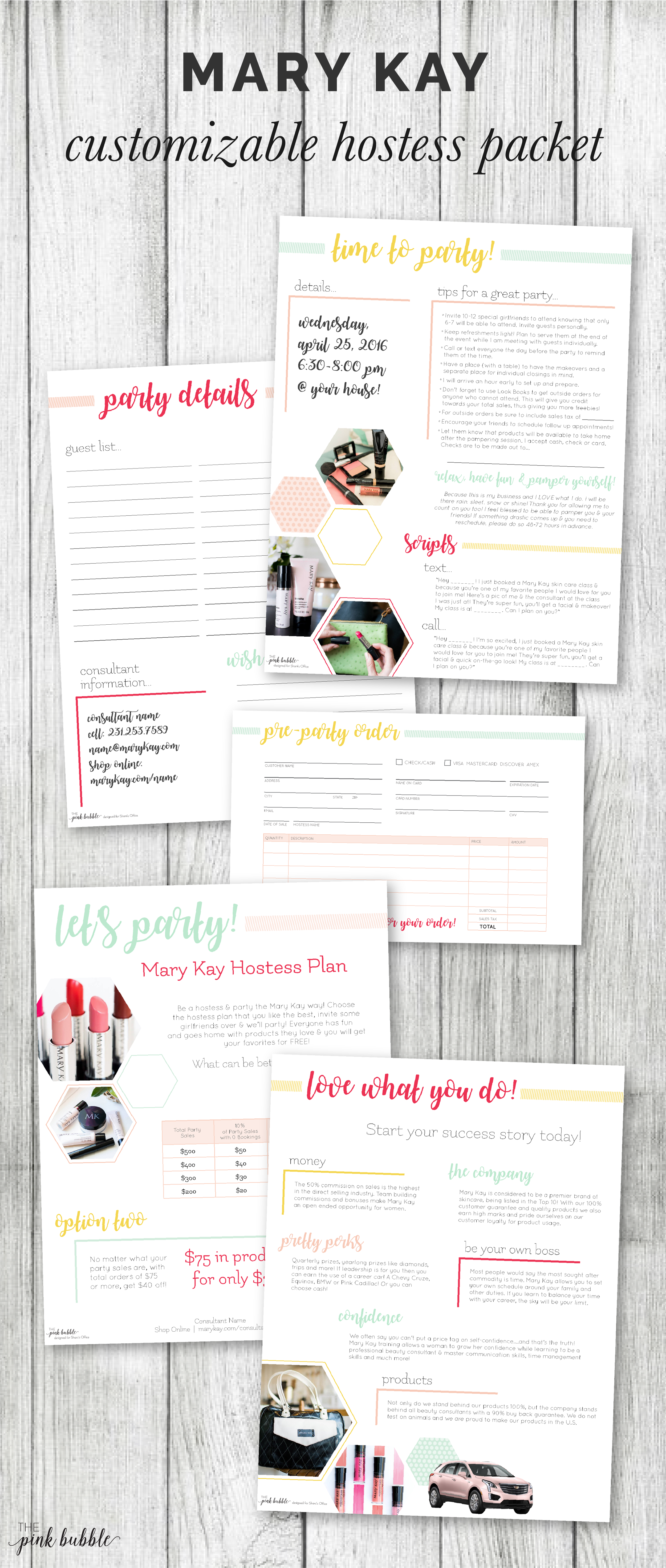 Our Light & Bright Hostess Packet is so simple & on trend. It includes  everything you need in your hostess packet, except for Look Books & candy  of course! :) There are customizable sections for party information and  your personal information! This packet was designed especially for Shani's  Office & I'm so excited to share it with you guys as well!  You can find the packet HERE.  Enjoy!
