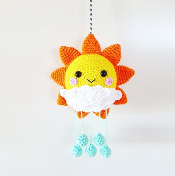 Sunshine Mobile crochet pattern by Super Cute Design | Adornos de ...
