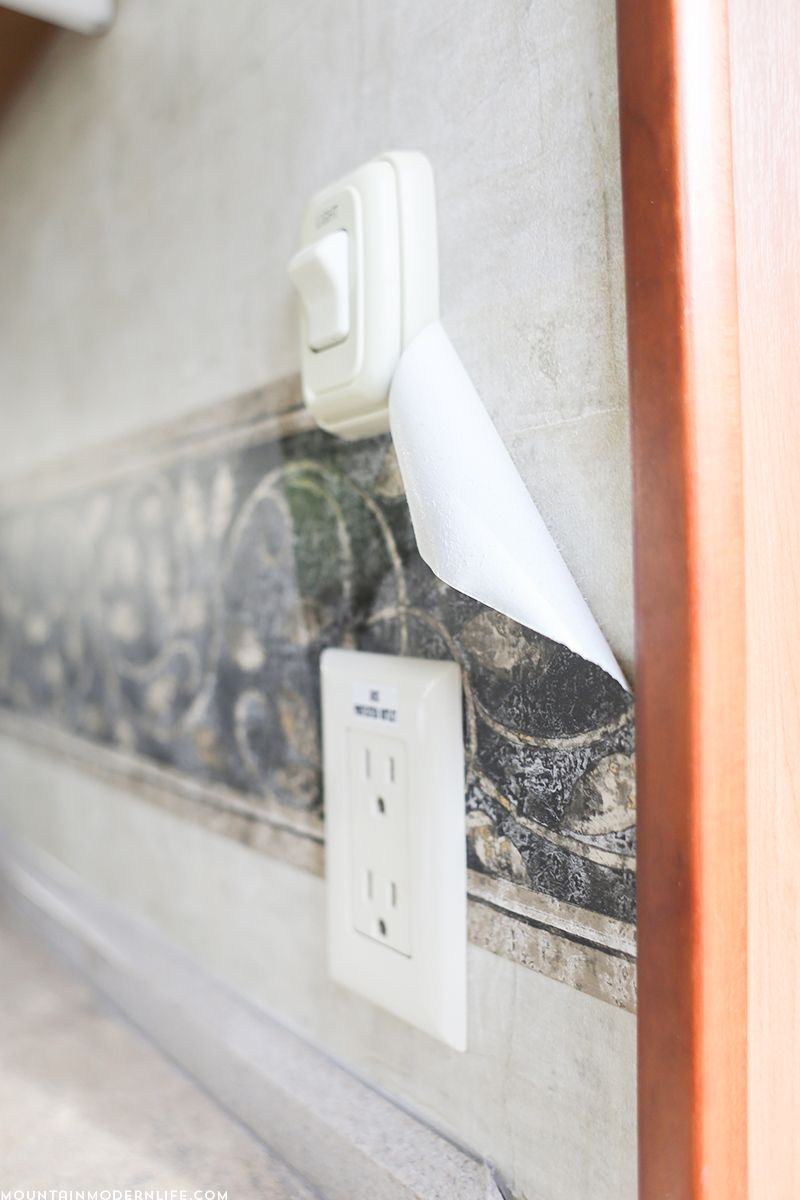 Ready To Remove The Outdated Wallpaper Border In Your Rv Wallpaper Border Removable Wallpaper Painting Over Wallpaper