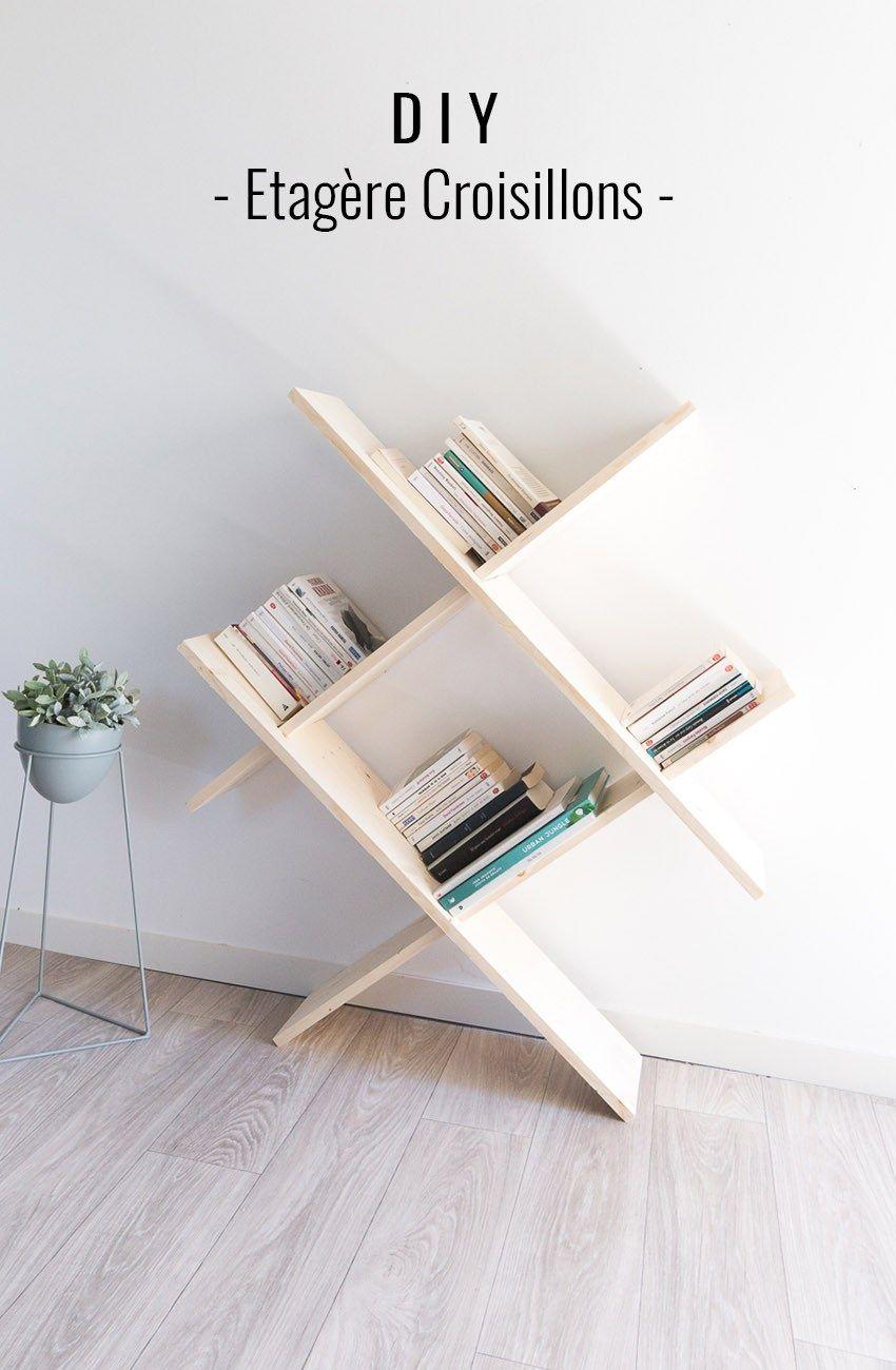 DIY étagère croisillons Home decor, Decor, Furniture
