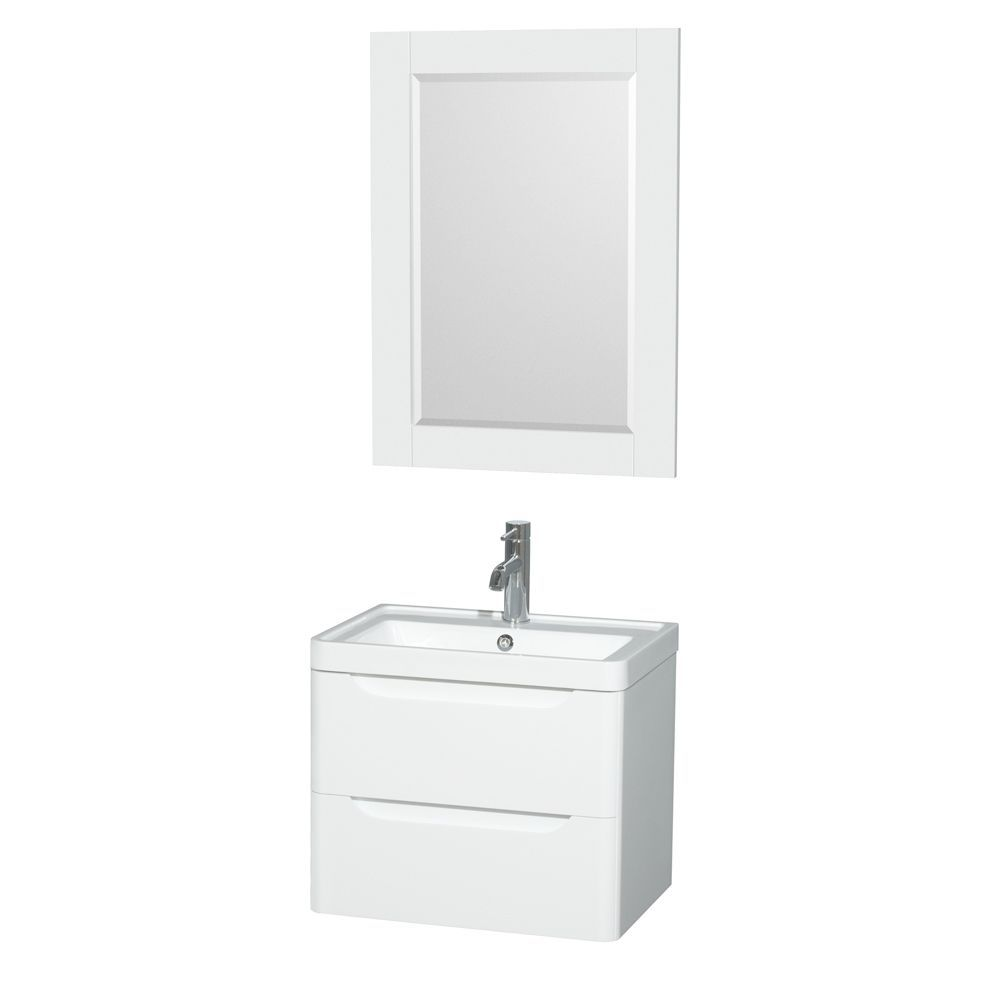 Wyndham Murano Collection 24 inch Acrylic Resin Integrated Sink