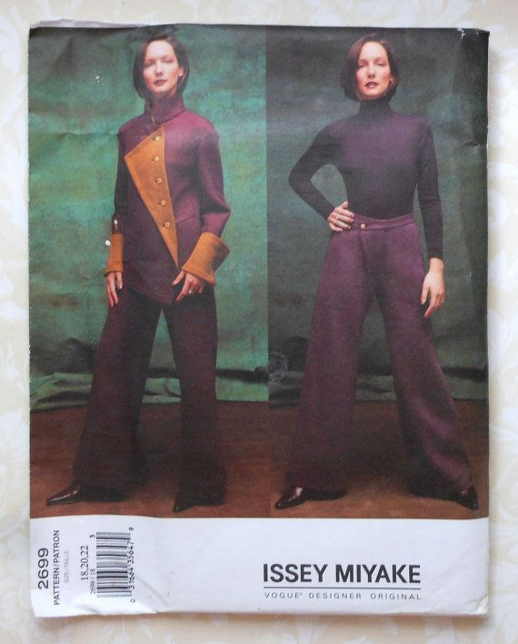 Vogue Jacket and Pants Sewing Pattern UNCUT Vogue 2699 Issey Miyake ...