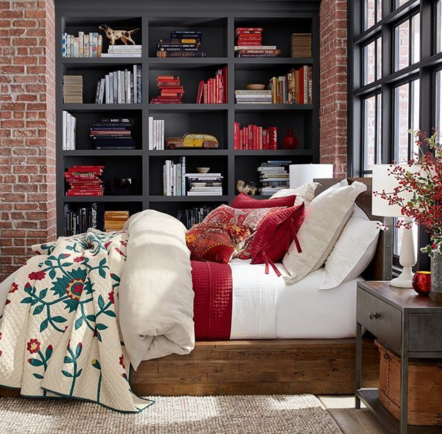 Master Bedroom Staging Ideas: A Subtle Touch Of Red To Ease Into The Holidays, Featuring