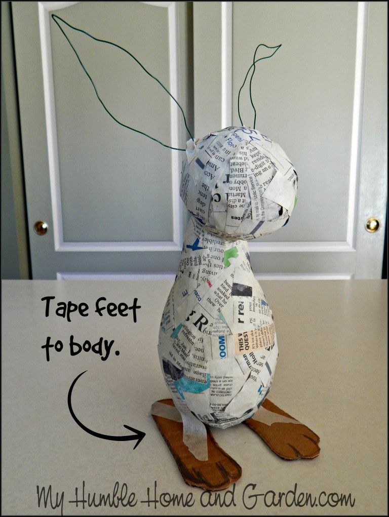 How To Make An Adorable Papier Mâché Bunny – My Humble Home and Garden