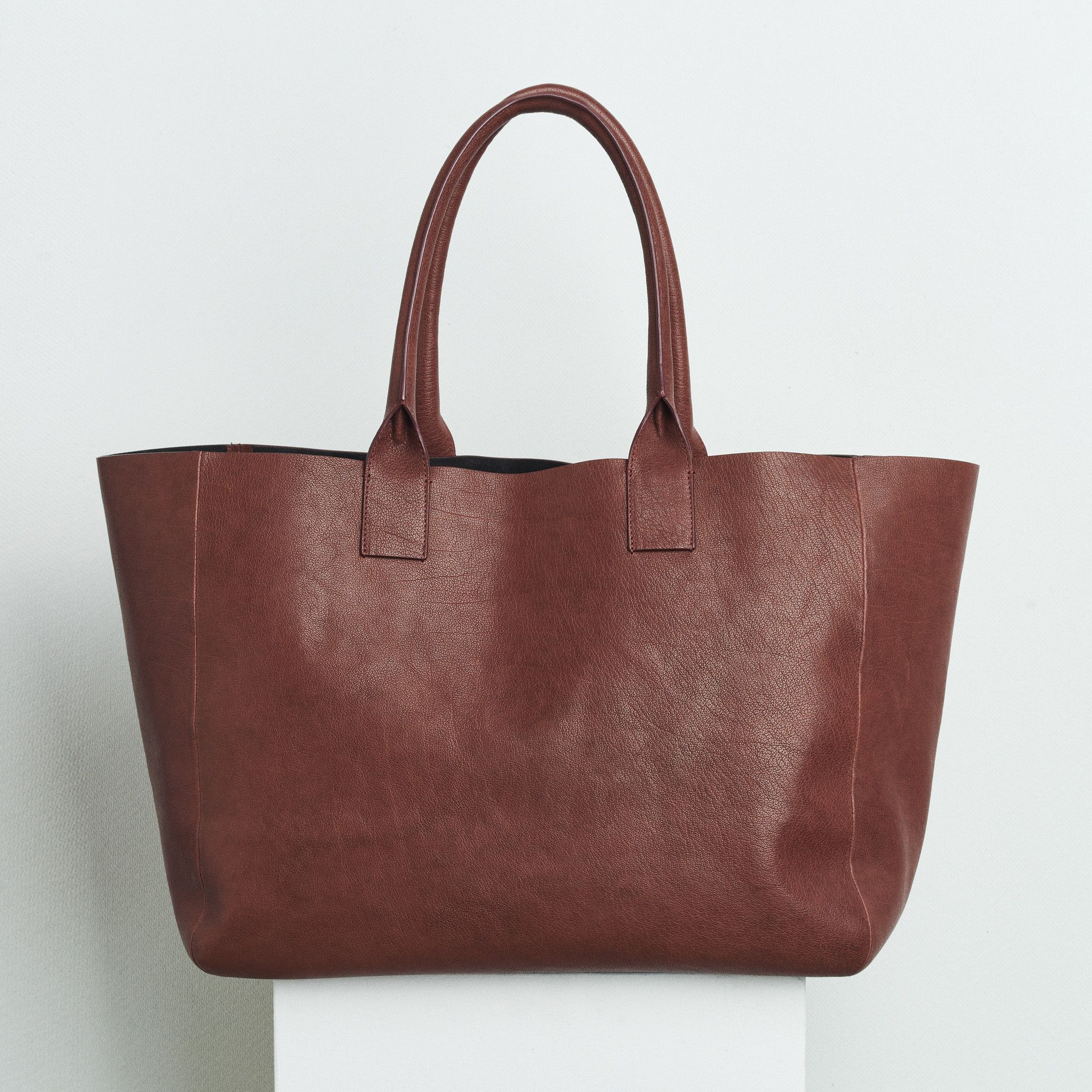 OVERSIZED SHOPPING BAG - RUST