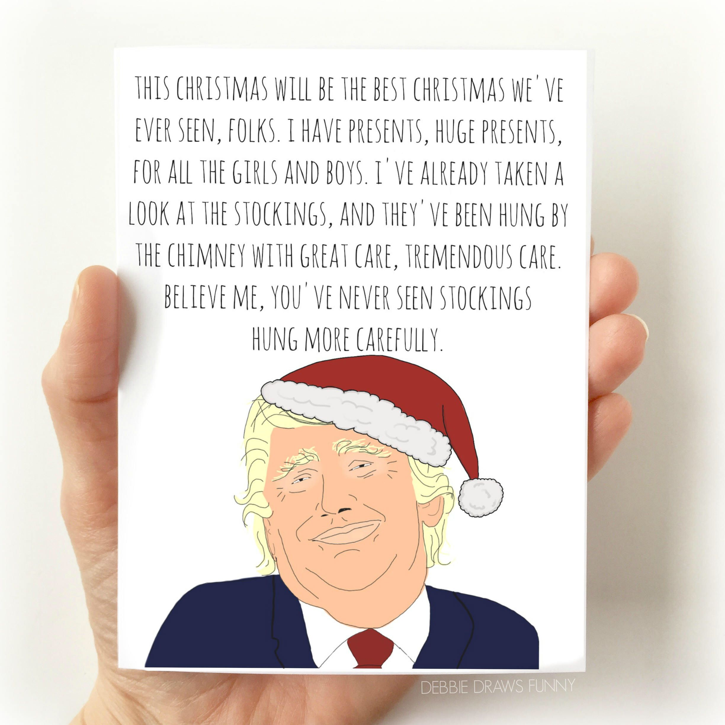 Trump Christmas Card Funny Funny Christmas Card Christmas Cards