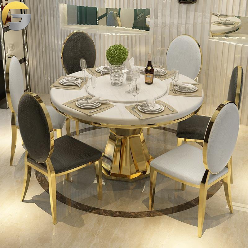 Marble Top Dining Table, Modern Round Marble Top Dining Table Set 4 Chairs
