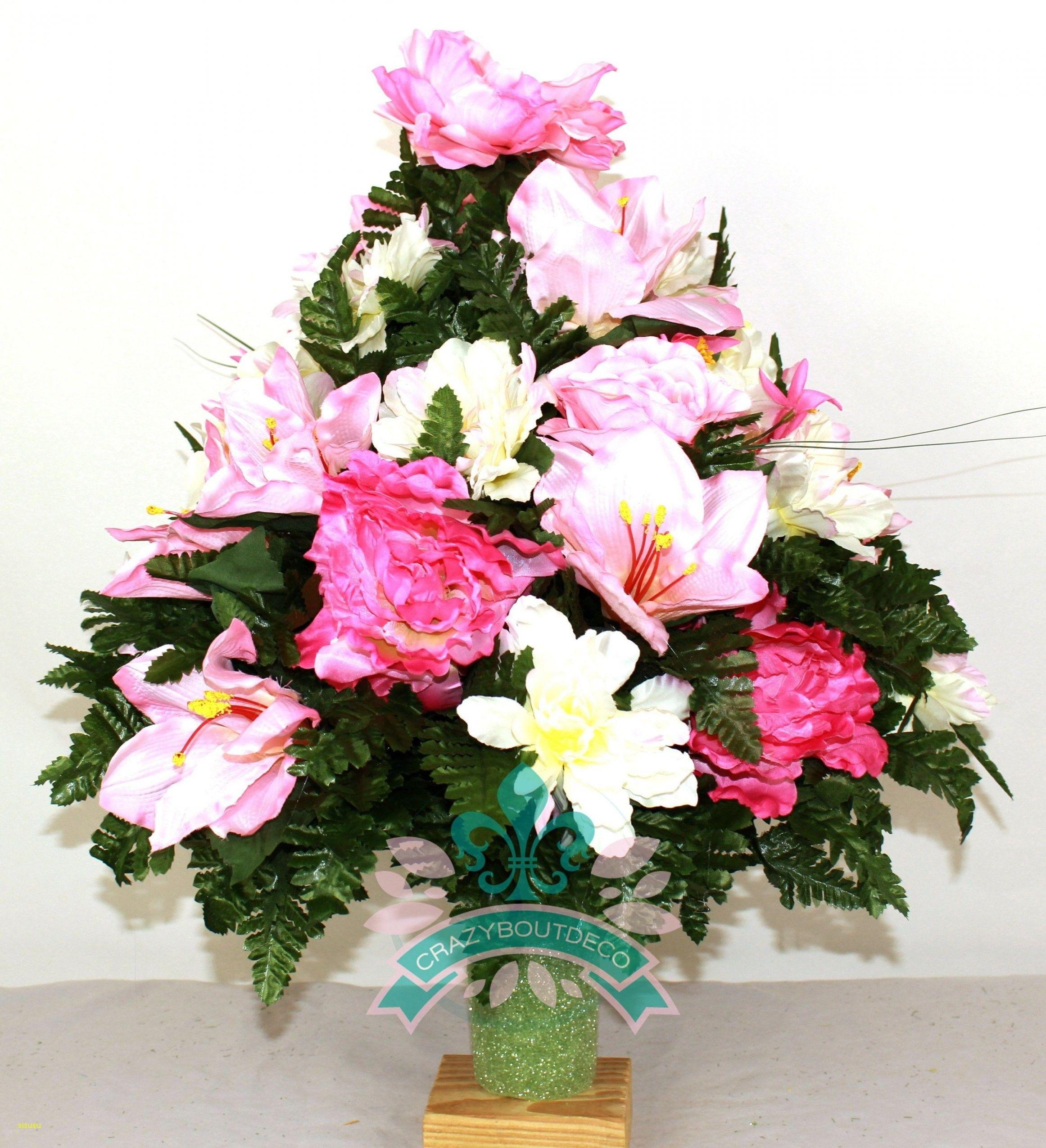How to make silk flower arrangements for cemetery vases