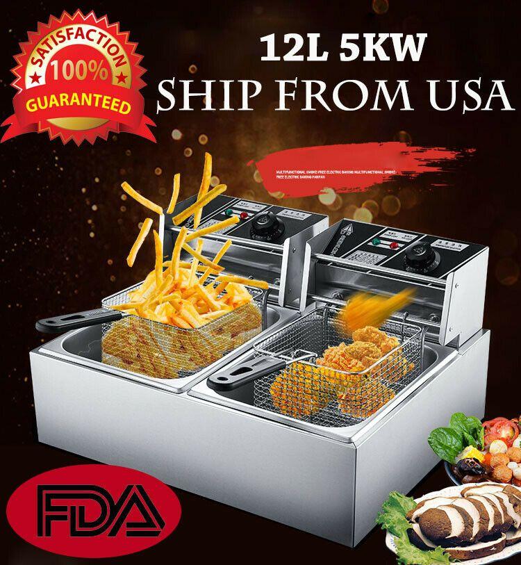 Details about 12L 5000W Electric Deep Fryer Commercial