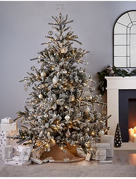 Marks And Spencer 7ft Snowy Alpine Pre Lit Christmas Tree Pre Lit Christmas Tree Classy Christmas Decor Christmas Tree