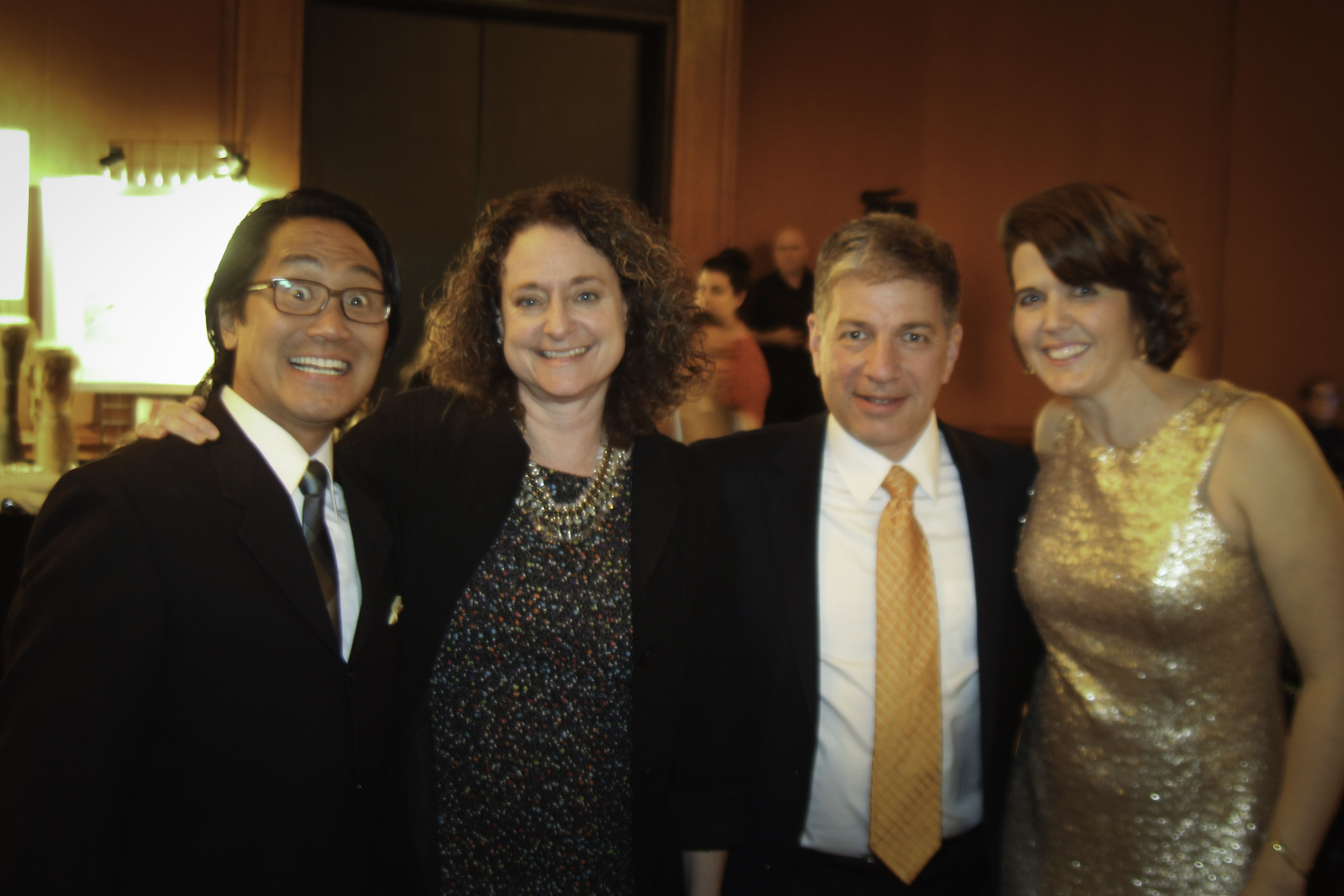 Executive Director Lisa Aquino Far Right And Her Husband Chris Far Left With Anchorage Mayor Ethan Berkowitz And Charity Executive Director Social Services