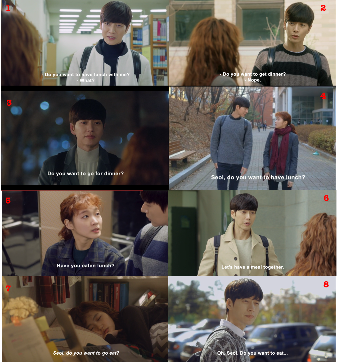 """""""Seol, want to eat?"""" watch Park Hae Jin and Kim Go Eun in Cheese in the Trap now!"""
