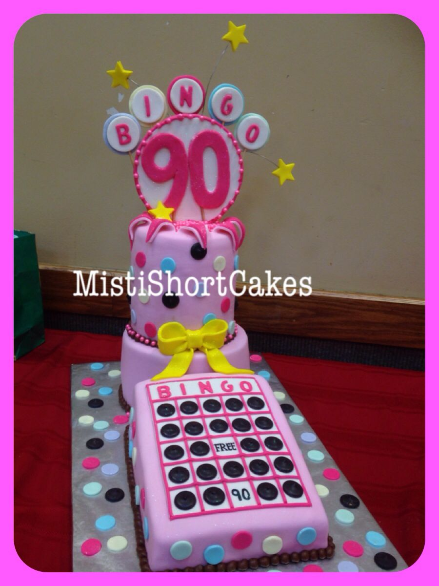 BINGO Cake 90th Birthday Party Made By Misti Short Cakes Wwwmistishortcakes