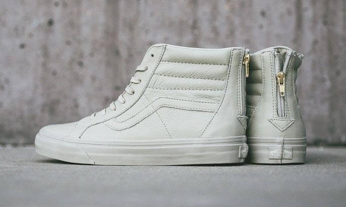 """Vans CA Sk8-Hi Zip """"Boot Leather"""" Agate Grey  2f08e48e8a"""