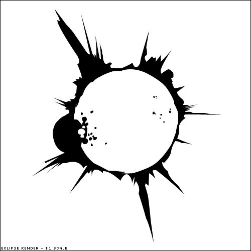 realistic solar eclipse tattoo - Google Search
