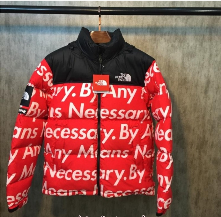 f682b1ef0 SUPREME X THE NORTH FACE BY ANY MEANS NECESSARY RED WHITE PARKA ...