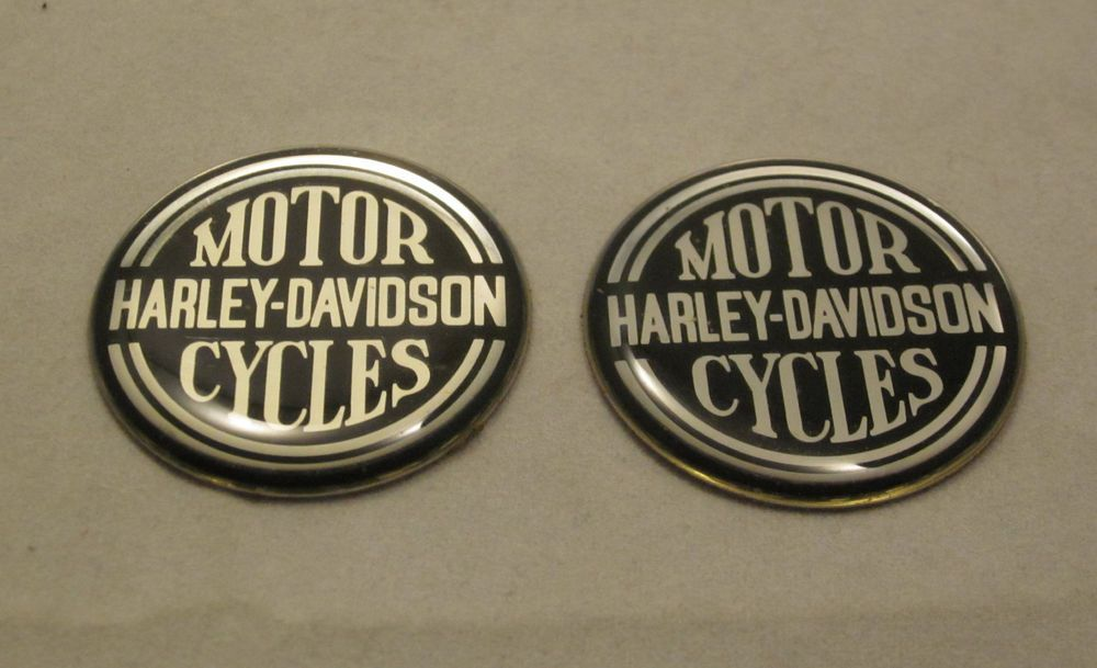 Harley Davidson Dip Dots Set Lot 2 Emblem Bar Shield Oil