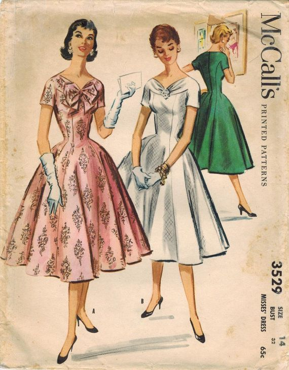 Vintage McCalls Dress pattern No. 3529 from 1955