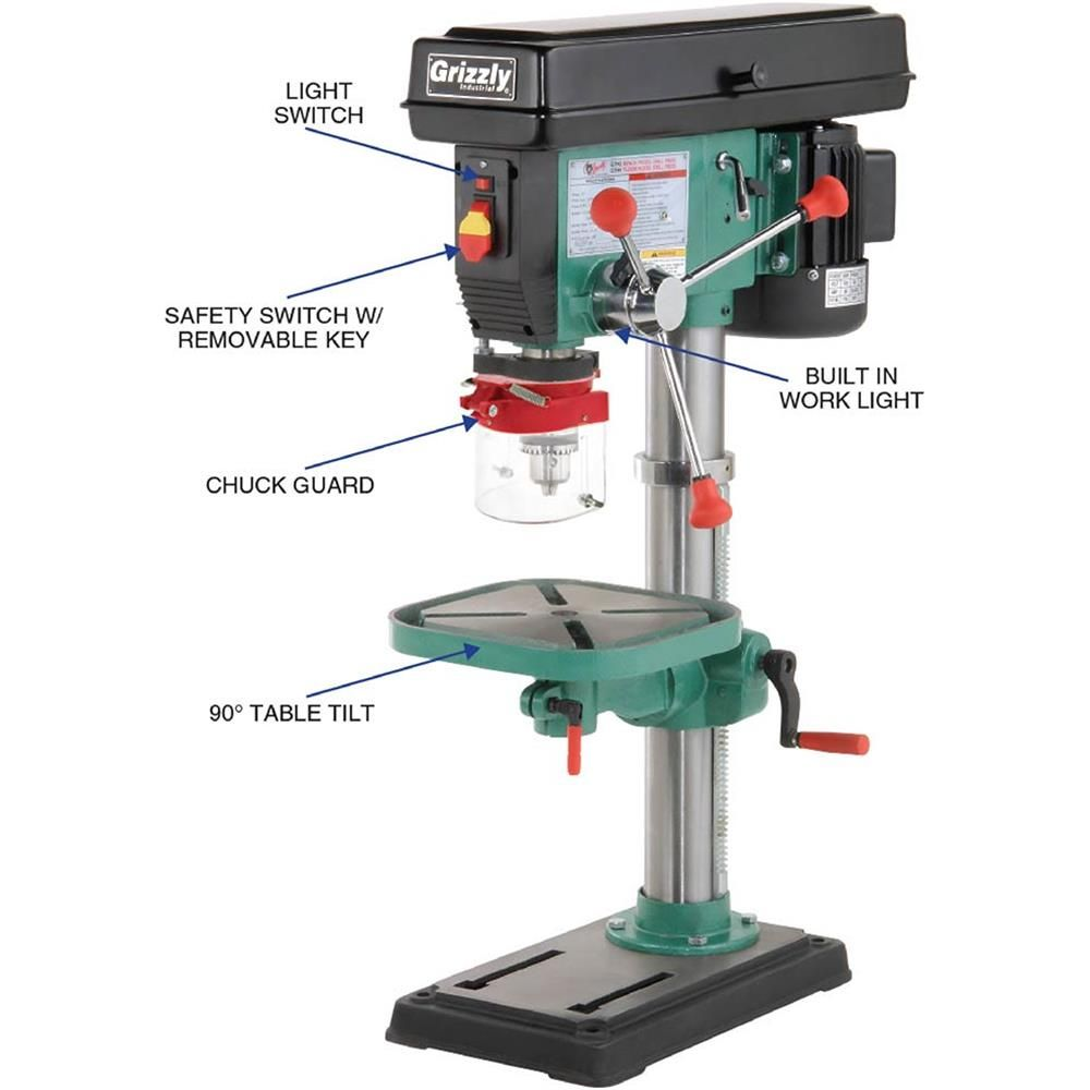 Shop Tools And Machinery At Grizzly Com Drill Press Grizzly Drill Press Drill