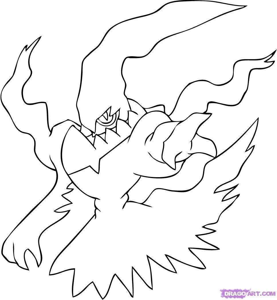 Darkrai Pokemon Drawings Pokemon Coloring Pages Anime Drawings Tutorials