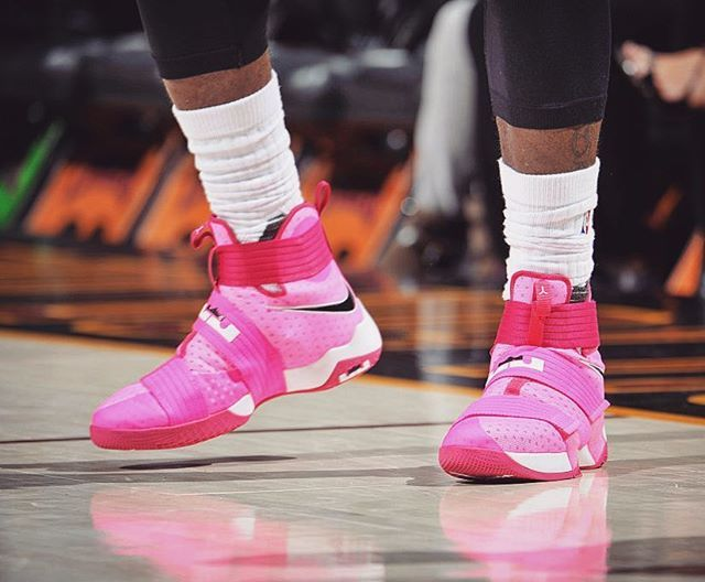 lebron 10 soldier pink