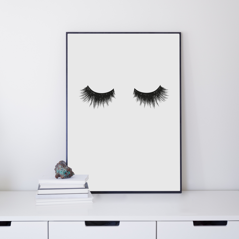 EYELASHES 30x40 via Ateljé Epifor. Click on the image to