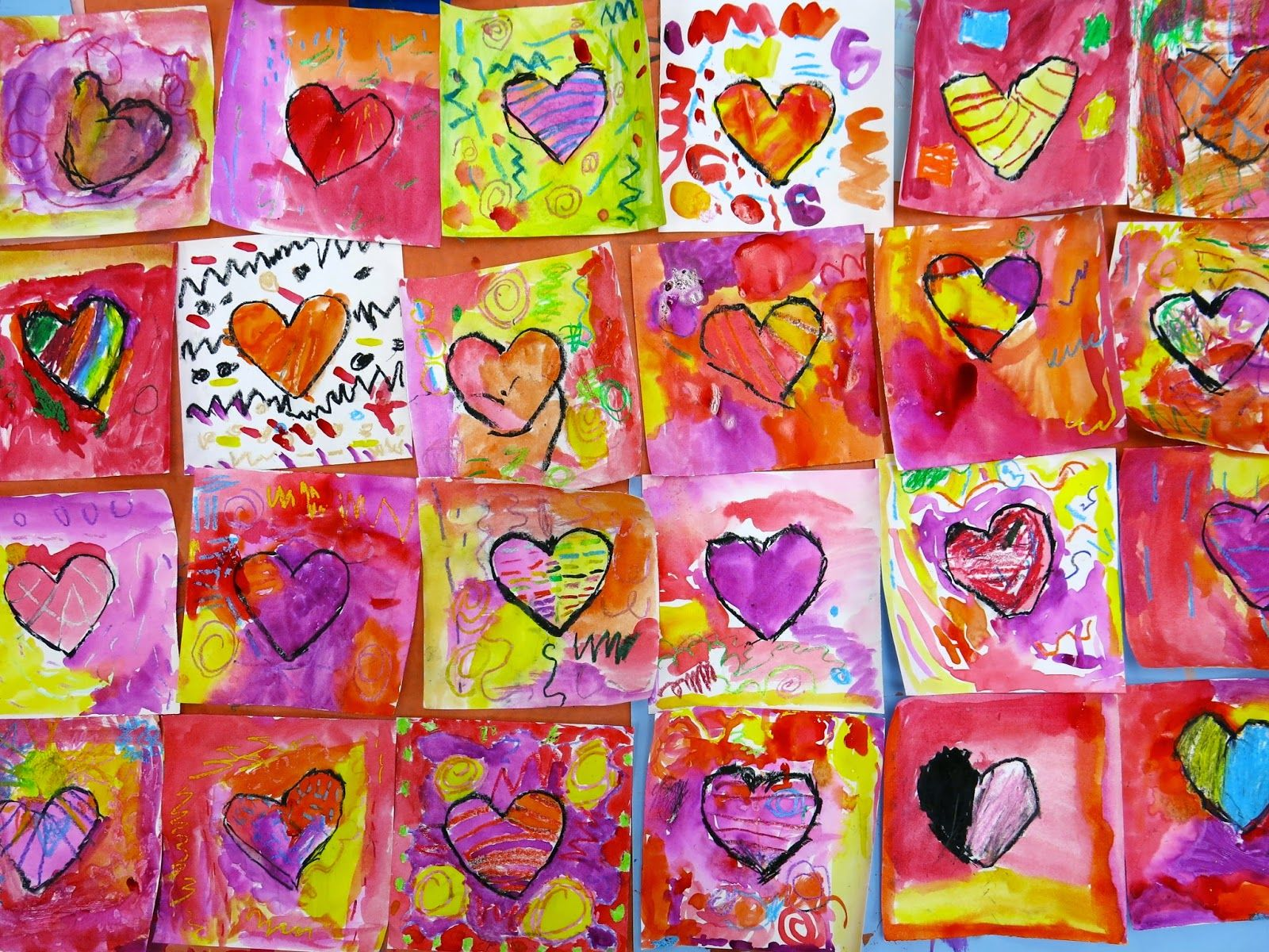 Cassie Stephens In The Art Room Our School Has Heart Mural Project Part 1