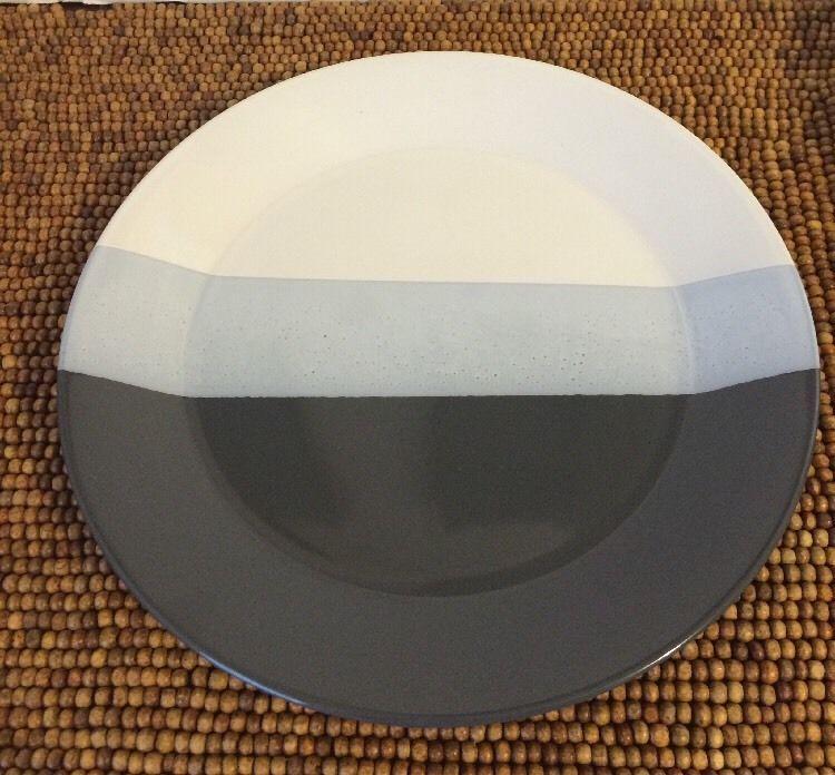 Re Room Essentials Target Triband Black Gray White Stripes Dinner
