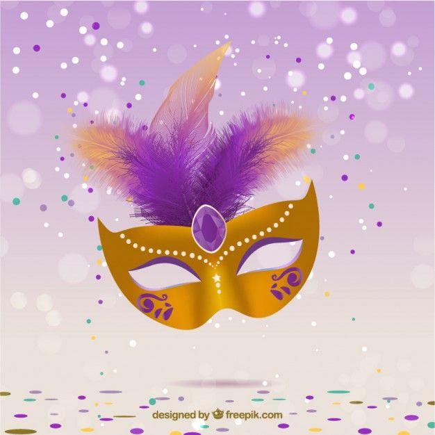 Glamurosa m scara de carnaval vector gratis eventos y - Mascaras para carnaval ...