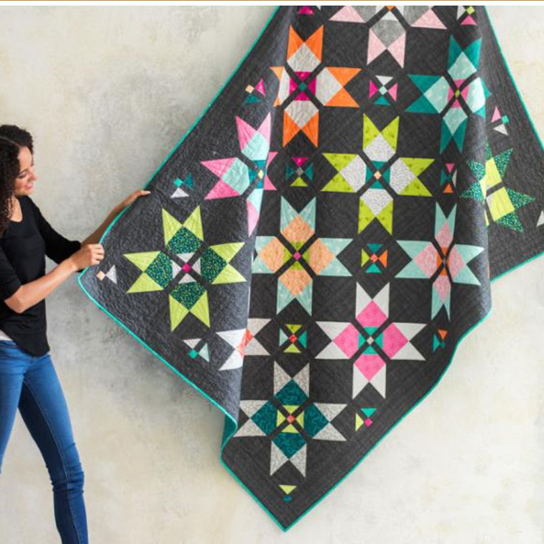dash to the Finish On the Boardwalk Square One quilt kit by Craftsy ...