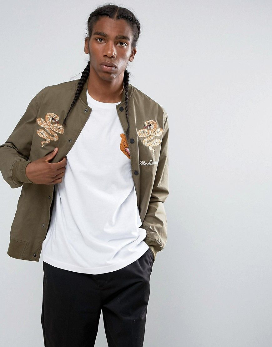 d995663ac Maharishi Embroidered Snake Tour Bomber Jacket | Products | Bomber ...