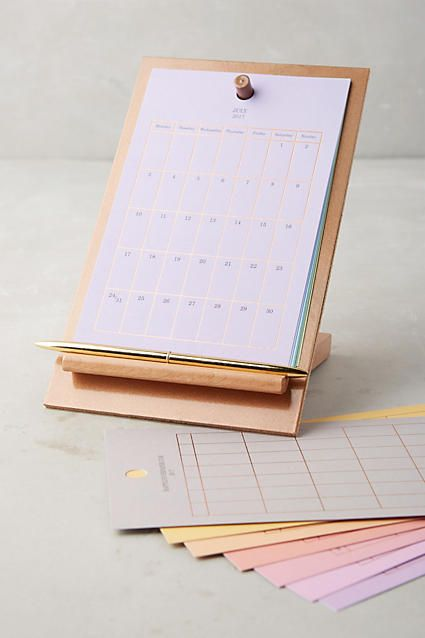Easel Desk Calendar - anthropologie.com