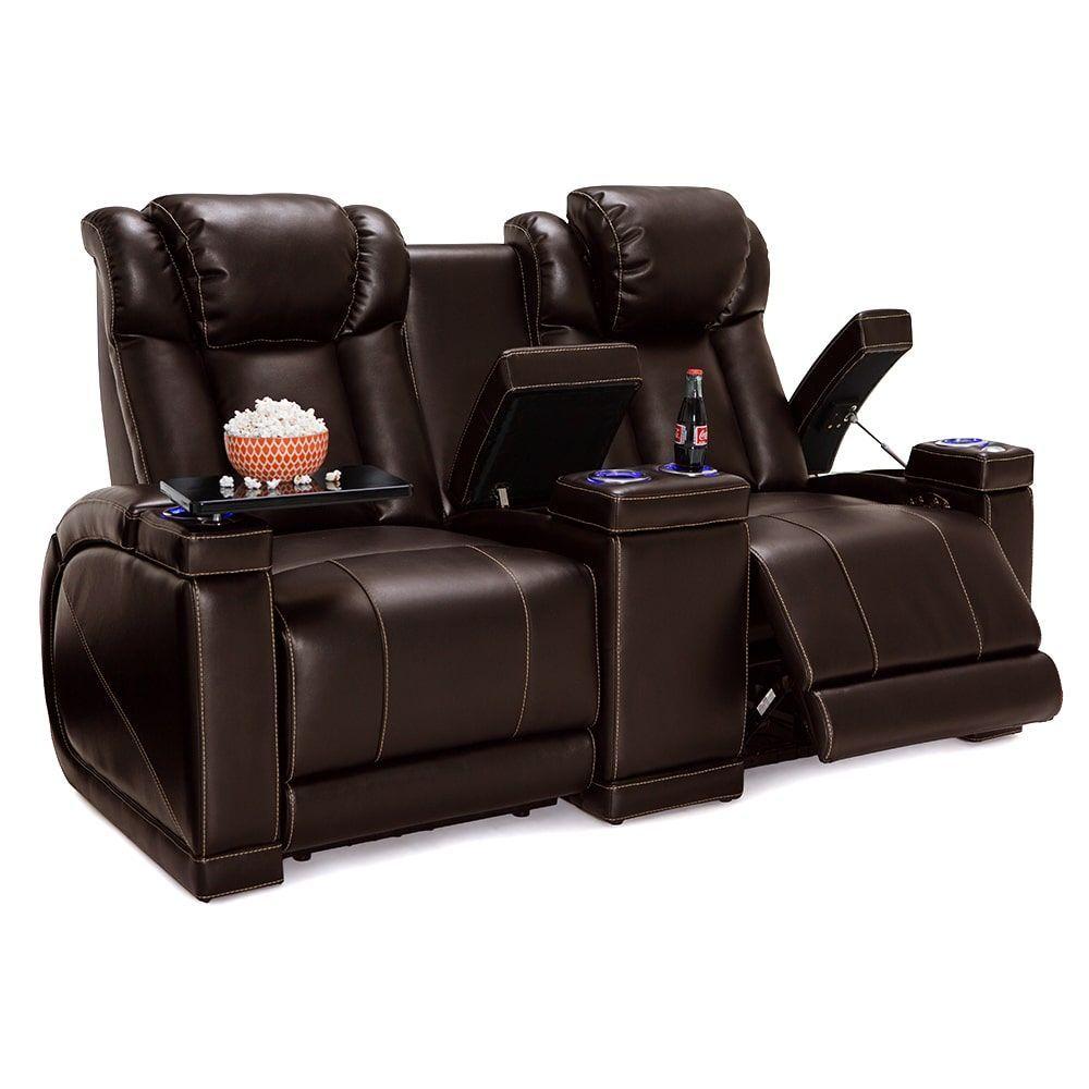 Miraculous Lane Sigma Home Theater Seating Brown Leather Gel Power Spiritservingveterans Wood Chair Design Ideas Spiritservingveteransorg