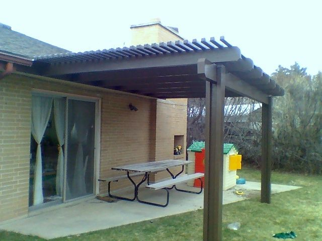 Pin by teresa mcguire on small adobes with patio cover - Cenador para jardin ...