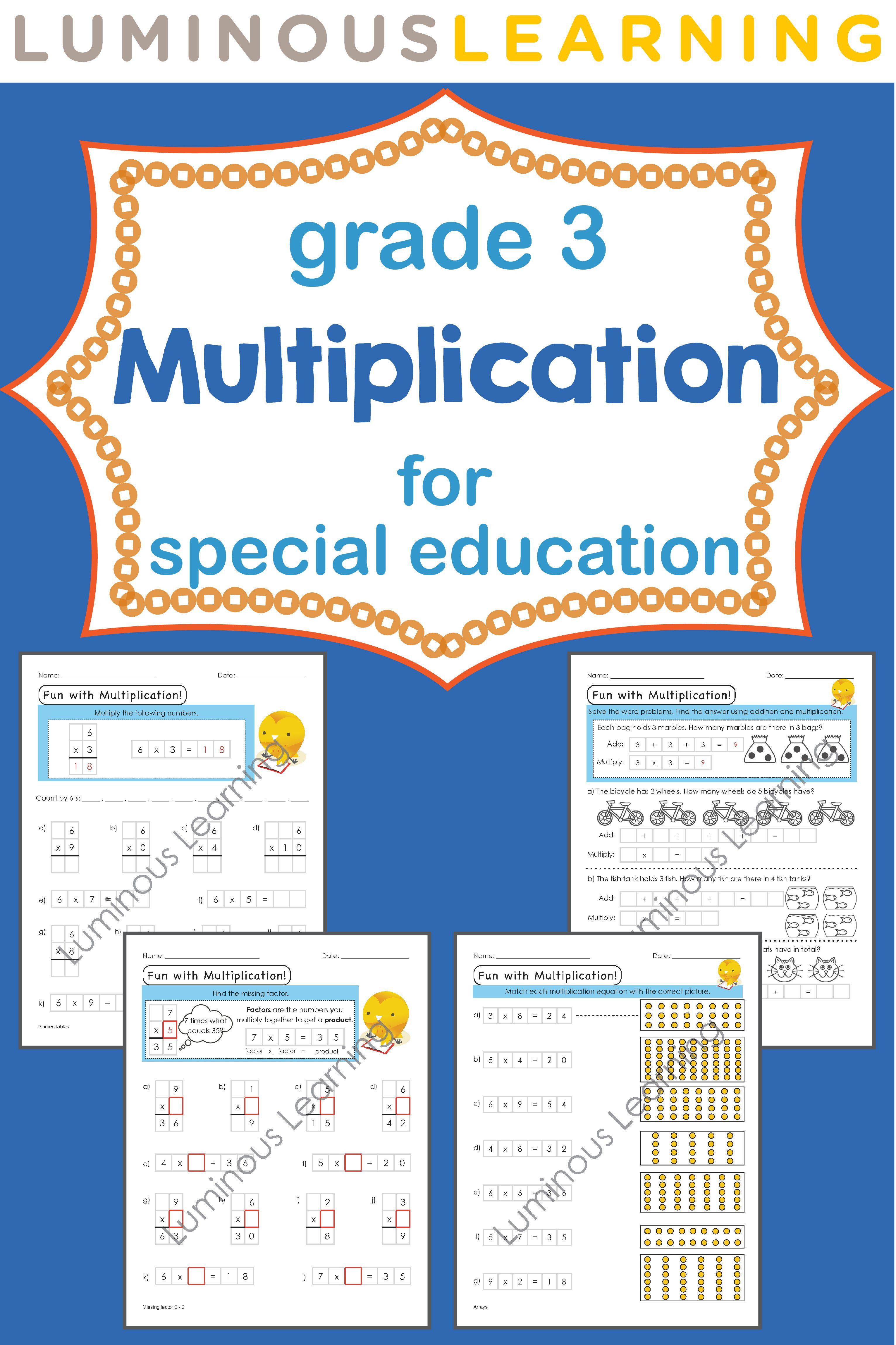 Grade 3 Multiplication Printable Workbook | Visual aids ...