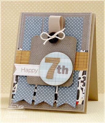Good card to make in advance and then just add number as needed. Make in fun kid colours.
