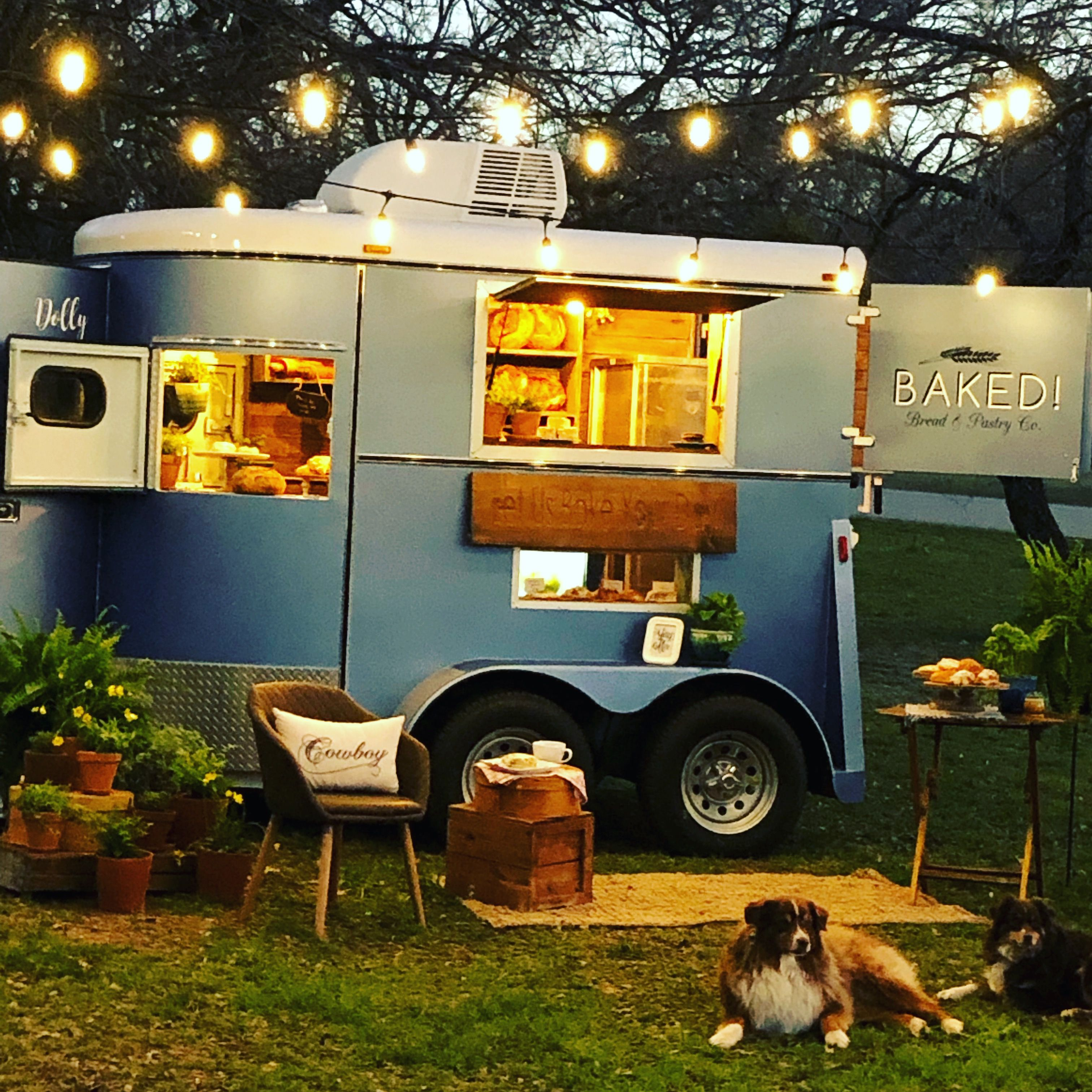Horse trailer conversion for baked bread and pastries