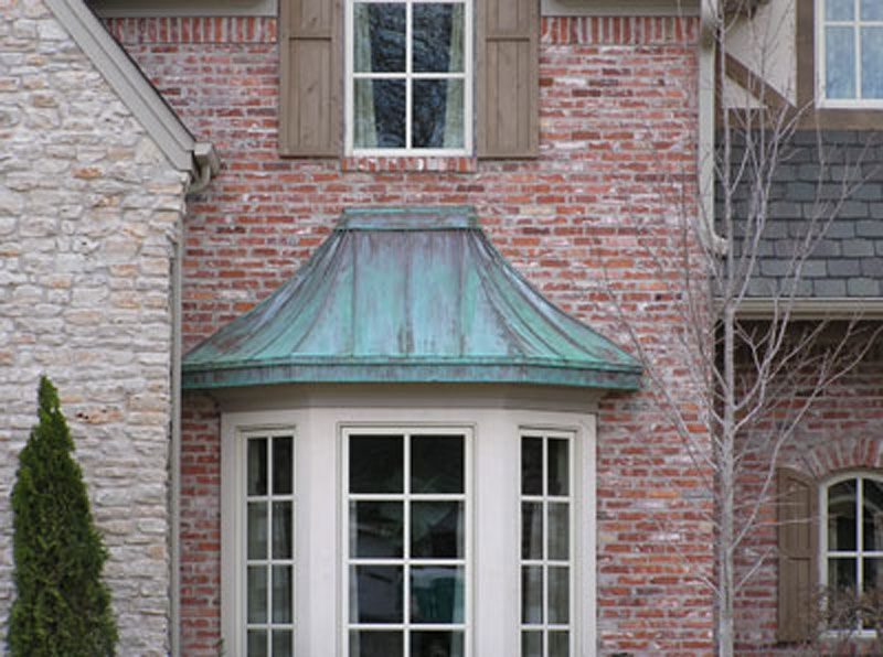 Love All The Stone Colors And Teal Copper House