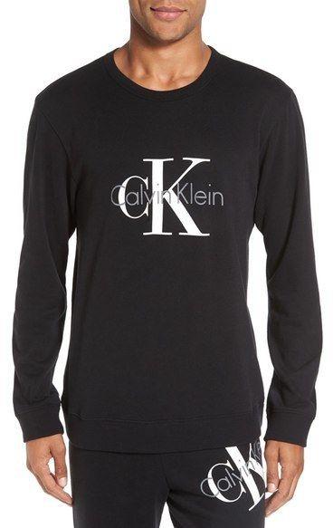 Calvin Klein Origins Cotton Blend Crewneck Sweatshirt Estilos De Moda Masculina Moda Estilo Moda Masculina