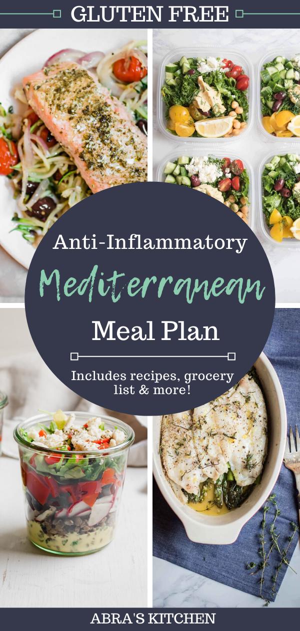 Anti Inflammatory Mediterranean Meal Plan Mediterranean Recipes Meal Planning Anti Inflammatory Diet Recipes