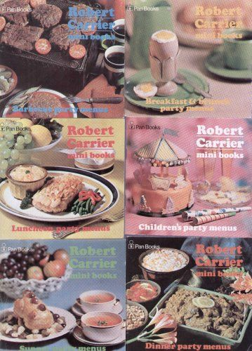 Six Robert Carrier Party Menus Mini books  I really wanted