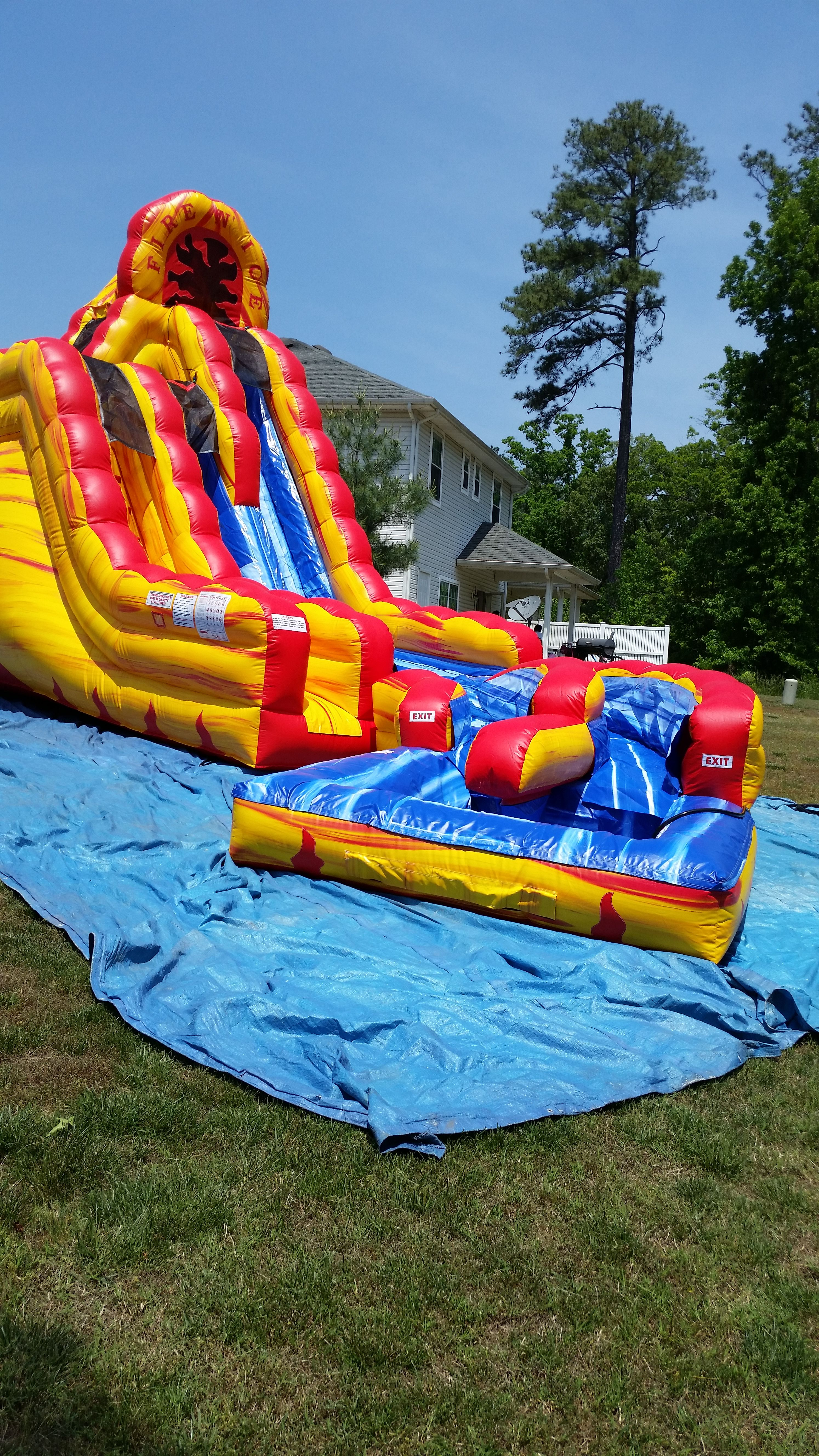 Rent E Quip S Fire And Ice Moonwalk With Pool Petersburg Virginia Colonial Heights Pool