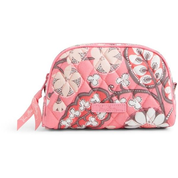 Vera Bradley Small Zip Cosmetic In Blush Pink 24 Liked On Polyvore Featuring Beauty Products Accessories Bags Cases Ma
