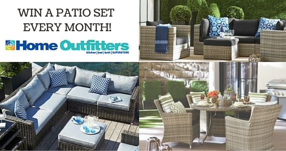 Win a Patio Set from Home Outfitters | Patio set, Home ...