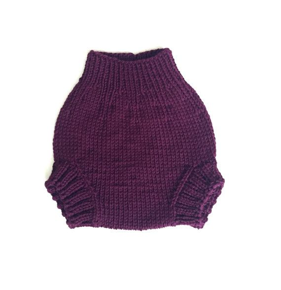 Dark purple wool diaper cover, size small | BABY | Pinterest ...