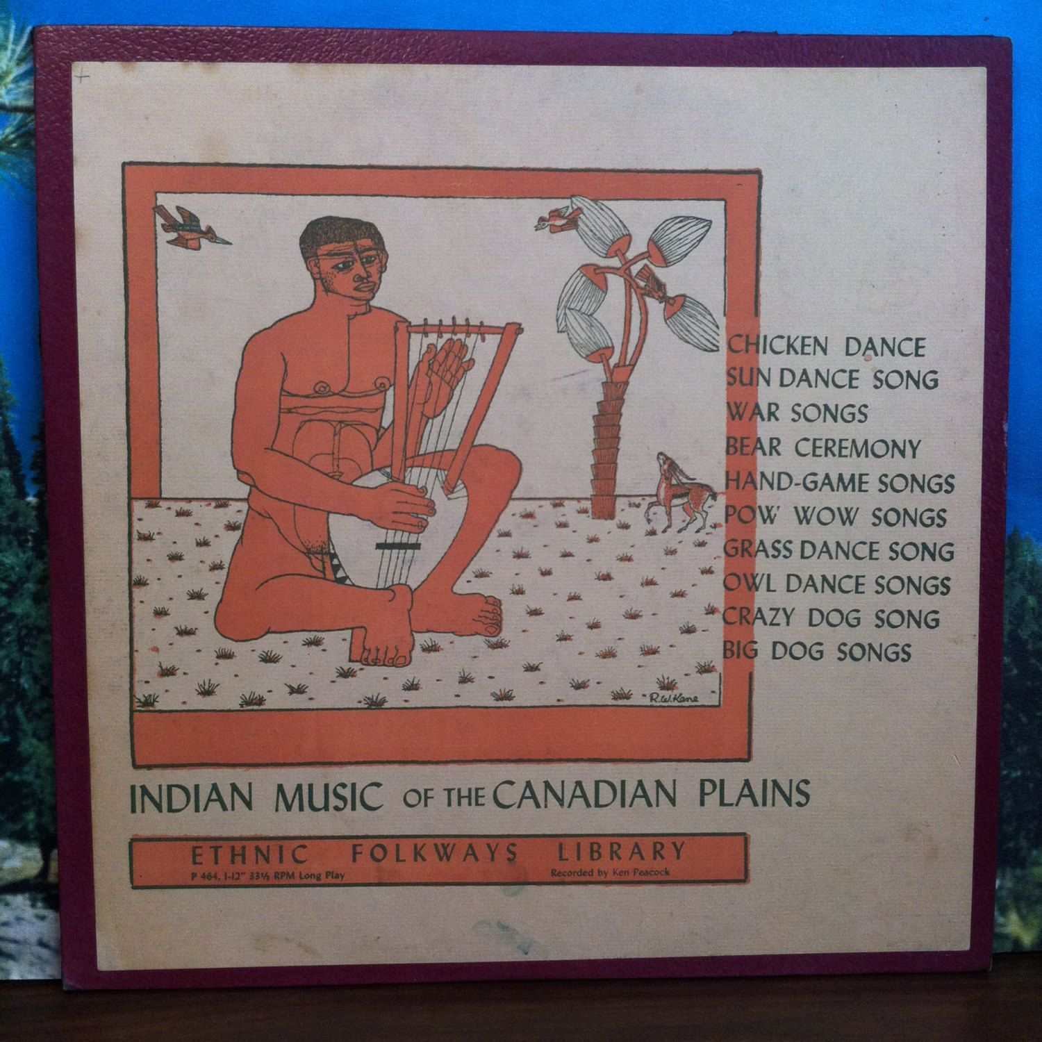Indian Music of the Canadian Plains Vinyl Record LP 1955 Ethnic Folkways Library Folk Native American by vintagebaronrecords on Etsy