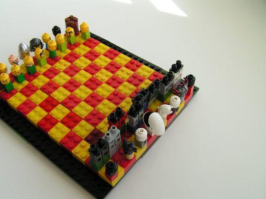 Furniture, Amusing Tea Rose Home Lego Chess Set Design ~ Attractive Coolest  Chess Set